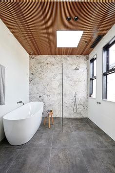 Wondering what bathroom and tile trends will be big this year? From bold terrazzo finishes to large format concrete tiles, Christie Wood, Beaumont Tiles Design Specialist, shares the colours, sizes and tile design styles that you can expect to see in many Bathroom Layout, Modern Bathroom Design, Bathroom Interior Design, Bathroom Ideas, Bathroom Designs, Bathroom Colours, Modern Master Bathroom, Bath Design, Kitchen Interior