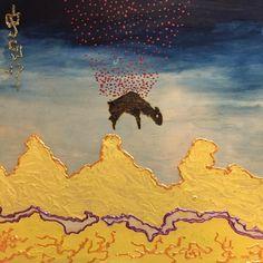 The drop // #sheep #mixmedia #painting #art