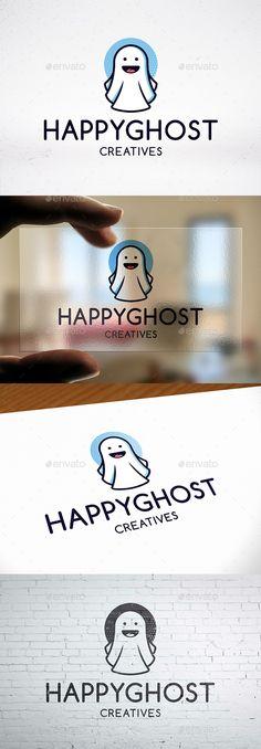 #Halloween Ghost Logo Design - #Humans #Logo Templates