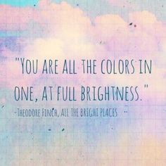 """Bookiemoji reviews #AlltheBrightPlaces. """"Every once in a while I come across a book that completely steals my heart and touches the very depths of my soul. ALL THE BRIGHT PLACES was one of those books for me."""""""