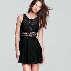 Free people daisy dress Fun, Black, free people lace dress. Worn twice, in very good condition!! Free People Dresses Mini