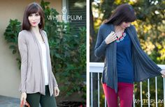 Open Front Pleated Cardigan - 3 Colors Available! 53% off at Groopdealz