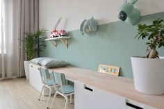 Cute desk and wall decoration for girls - Kinderzimmer Ideen - Cute Wall Decor, Kids Wall Decor, Room Interior, Interior Design Living Room, Girl Desk, Ikea Wall, Ikea Kids, Kids Room Design, Boy Room