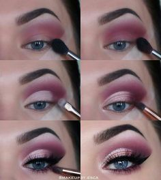 Make-up Tutorial Plum lila Flick blaue Augen Augen Make-up Tutorial Plum lila Flick blaue Augen . -Augen Make-up Tutorial Plum lila Flick blaue Augen . Eye Makeup Tips, Makeup Goals, Skin Makeup, Makeup Inspo, Makeup Inspiration, Makeup Brushes, Makeup Ideas, Plum Eye Makeup, Makeup Eyeshadow