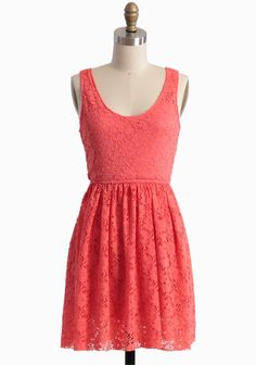 Coral and Lace?!  Could it get any better <3