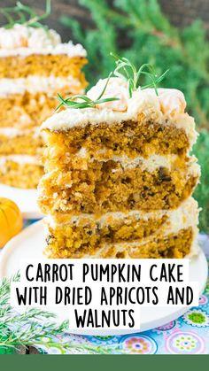 Apple Pie Cake, Pumpkin Cheesecake, Carrot Cake, Desserts To Make, Food To Make, Tooth Cake, Thanksgiving Cakes, Pastel, Paleo Treats