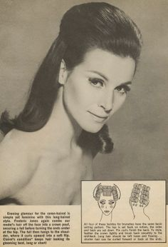 Vintage Hairstyles Retro livin vintage: 3 Hairstyle How To's from 1969 1960s Hair Tutorial, 70s Hair And Makeup, 60s Makeup, Sixties Hair, 1970s Hair, 1960 Hairstyles, Fancy Hairstyles, Pelo Retro, Pelo Vintage