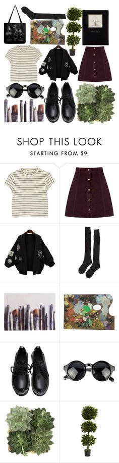 """Artist"" by ainaza on Polyvore featuring мода, Monki, Oasis, WithChic, Samantha Holmes, Ella Doran, Jayson Home и Nearly Natural"
