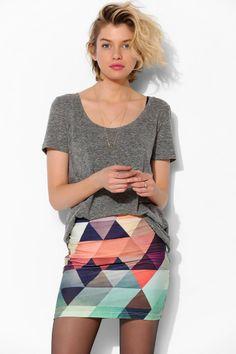 BamBam | Geo Bodycon Skirt