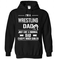Cool Wrestling dad T Shirts, Hoodies, Sweatshirts. CHECK PRICE ==► https://www.sunfrog.com/LifeStyle/Cool-Wrestling-dad-3399-Black-26565335-Hoodie.html?41382