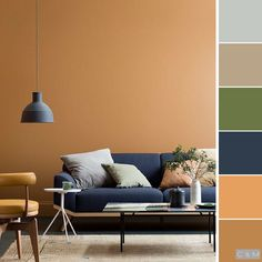 Ideal Life Ideas How to choose colors to decor your room? Start with this article and get new ideas! design living room colors All Categories Living Room Color Schemes, Living Room Colors, Bedroom Colors, Living Room Decor, Apartment Color Schemes, Dark Interiors, Colorful Interiors, Interior Design Living Room, Living Room Designs
