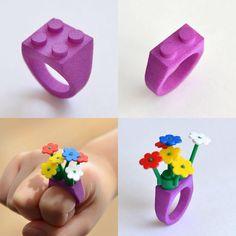 "41 Likes, 4 Comments - @id.arts on Instagram: ""LEGOブロックでデコれる3Dプリントリング #id.arts #3dprinting #3Dprinter #SLS #lego #shapeways #ring #toys #レゴ #指輪…"""