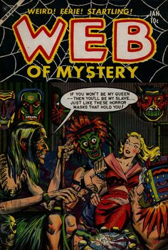 Comic Book Cover For Web of Mystery #22