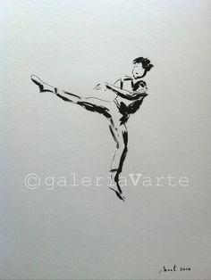 Original ink drawing - Modern Dancer