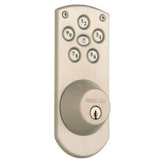"Weiser Lock GED1460X15S Powerbolt Keyless Lock Exterior Door Hardware - Satin Nickel by Weiser. Save 38 Off!. $79.99. Weiser Lock GED1460X15S Satin Nickel Exterior Door Hardware ""Projection From Door: 1-5/32"""" Adjustable 2-3/8 or 2-3/4 BacksetFits: 1-3/8 to DoorThickness Available To Key Alike: 1Cylinders: SmartKey PinHanding: Reversible"