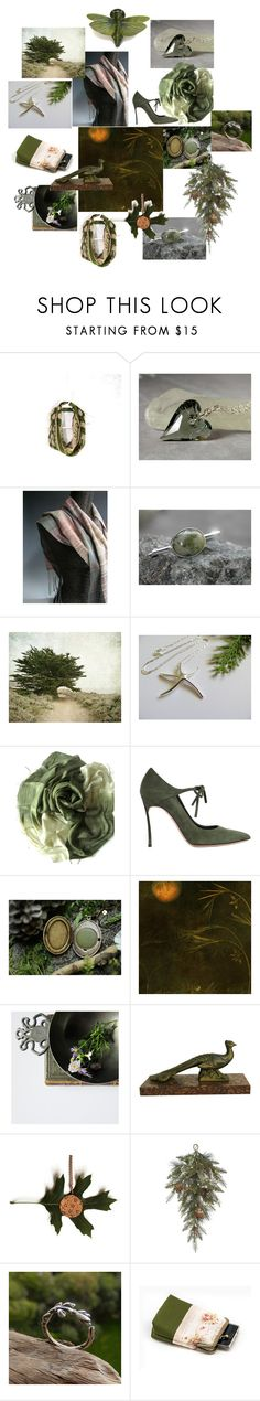 """""""Evergreen Holidays"""" by inspiredbyten ❤ liked on Polyvore featuring Casadei"""