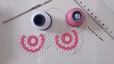 ZİKZAK KENARLI KOLAY HAVLU KENAR OYASI Crochet Lace, Crochet Projects, Tatting, Stitch, Step By Step, Stud Earrings, Tejidos, Pattern, Full Stop