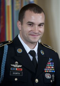 """Army Staff Sgt. Salvatore Giunta's """"courage and leadership while under extreme enemy fire were integral to his platoon's ability [to] defeat an enemy ambush and recover a fellow American paratrooper from enemy hands."""""""