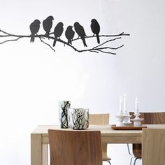 ferm living love birds wallsticker
