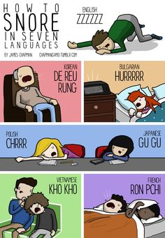international onomatopoeias. Snore and telephone rings seems awfully similar in Korean.