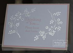 Stampin Up Thoughts & Prayers card - with Michelle Last Hand Made Greeting Cards, Making Greeting Cards, Greeting Cards Handmade, Thoughts And Prayers Stampin Up Cards, Card Making Techniques, Prayer Cards, Get Well Cards, Scrapbook Cards, Scrapbooking