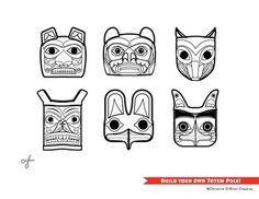 Build Your Own Totem Pole Craft / Printable... by Christine O'Brien Creative   Teachers Pay Teachers