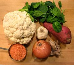 The Veracious Vegan: Indian Lentil-Cauliflower Soup Detox Recipes, Soup Recipes, Vegan Recipes, Baby Food Recipes, Great Recipes, Wild Rose Detox, Oh She Glows Cookbook, Detox Plan, Cauliflower Soup