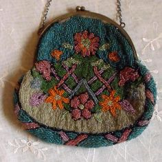 Antique Ladies Beaded Purse Early 1900's