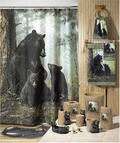 Bear Curtains In Bathroom