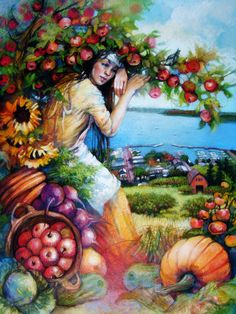 Bayfield Apple Festival Poster Art 2014 Giclee Limited Edition Print by Tonja Sell