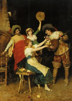 Federico Andreotti (1847-1930)  Flowers for Music