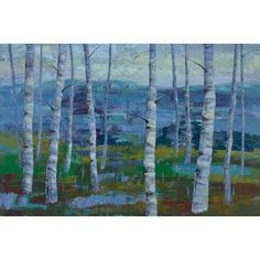 """Marmont Hill - """"Twilight Grove I"""" Jorgensen Painting Print on Wrapped Canvas"""