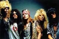 Guns N' Roses. I'm pretty much in love with young Axl Rose...and young Slash. Okay, I'm in love with old Slash too.