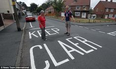 stupid transportation mistakes | Blundering road painters make spelling gaffe that couldn't be any ...