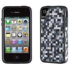 Capas N Cases Acessórios - Capinha Speck FabShell Pixel Party para iPhone 4 e 4s ( Cinza e Prto) - Capas 'N' Cases Shop