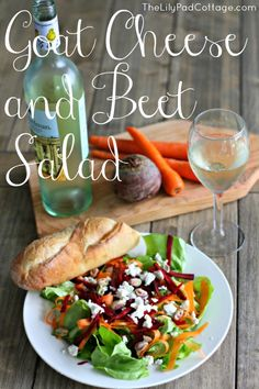 Goat Cheese and Beet Salad - www.thelilypadcottage.com