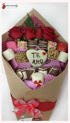 Valentines Day Treats, Valentine Day Love, Valentine Gifts, Choco Chips, Chocolate Bouquet, Love Coupons, Edible Arrangements, Candy Bouquet, Chocolate Gifts