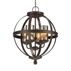 Sea Gull Lighting Sfera Autumn Bronze Transitional Mercury Glass Orb Pendant Light at Lowe's. The Sea Gull Lighting Sfera six light single tier chandelier in autumn bronze enhances the beauty of your home with ample light and style to match today's Mercury Glass Chandelier, Bronze Chandelier, Globe Chandelier, Chandelier Shades, Chandelier Lighting, Globe Pendant, Rustic Chandelier, Mini Pendant, Circular Chandelier