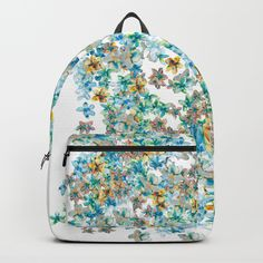 Little Flowers For You Backpacks Fabulous and bright by @anoellejay @society6 back to school solutions