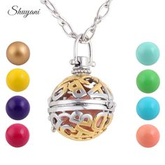 Find More Pendant Necklaces Information about 10pcs/lot Round Ball Cage Floating Locket Lucky Jewelry Fit Music Beads Pendant Necklace Long Necklace For Pregnant Mother,High Quality necklace cords,China necklace beautiful Suppliers, Cheap necklace queen from shuyani Official Store on Aliexpress.com