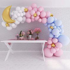 Gender Reveal Balloons, Gender Reveal Party Decorations, Baby Gender Reveal Party, Engagement Party Decorations, Balloon Decorations, Gender Reveal Banner, Ballons Pastel, Mini Balloons, White Balloons