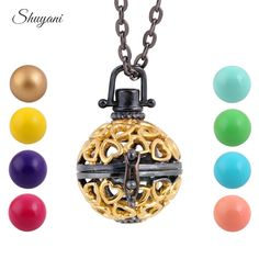 Find More Pendant Necklaces Information about 10pcs/lot Pregnancy Harmony Ball Angle Caller Chime Ball Pendant Necklace Vintage Plated Cage Locket Pendant For Pregnant Women,High Quality pendant,China pendant heart necklace Suppliers, Cheap necklace small pendant from shuyani Official Store on Aliexpress.com