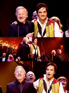Colm Wilkinson with Ramin Karimloo. It occured to me recently how special this must have been for Ramin, to sing arm in arm with the man who inspired his career as a child. Look, he's beaming. What a happy Ramin.