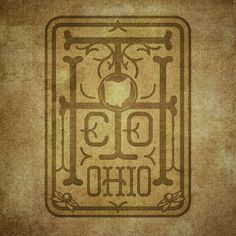 Type Hunter Co. monogram- Ohio Edition. #typehunter #typehunting #badgehunting #vintagetechniques #ohioquality