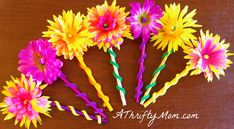 DIY Pencil Flowers ~ by Tiffany Here's an inexpensive craft that you can do with your kiddos. I bought everything you need to make these pencils at the dollar store. I saw sunflower pencils at a craft fair a few years ago. Very simple, with a sunflower and green stem wrapped around the pencil. They looked easy enough …