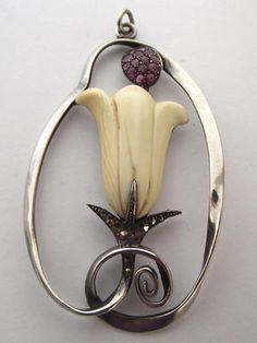 Art Nouveau/Jugendstil silver Adolf Mayer pendant