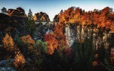 Autumn Bastei Sunrise III - null