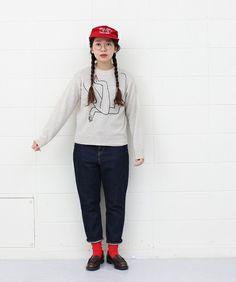 ウォッシャブルラム ほおづえ刺繍プルオーバー(ニット/セーター)|I am I in fact...(アイアムアイ インファクト)のファッション通販 - ZOZOTOWN