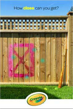 Stee-rike! Throw some spring training fun in the backyard by coloring tennis balls with Crayola Chalk!