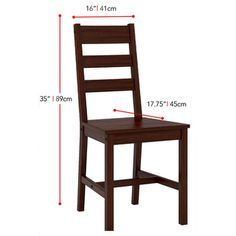 Shop for CorLiving Cappuccino Dining Table (Set of Get free delivery On EVERYTHING* Overstock - Your Online Furniture Shop! 6 Seater Dining Table, Wooden Dining Chairs, Metal Chairs, Kitchen Chairs, Pallet Furniture, Furniture Projects, Rustic Furniture, Sala Set, Wooden Chair Plans